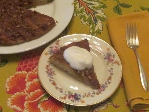 Delicious slice of Mesquite Ginger Pear Tart.