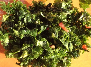 Kale salad lightens heavy holiday meals.