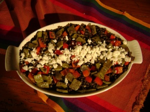 French Green Lentils with Nopalitos