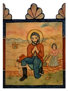 San Ysidro retablo art, courtesy of Friends of Tucson's Birthplace