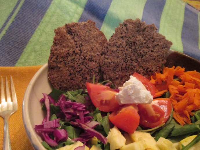 Serve your Black Beauty Wafers with a crisp salad.