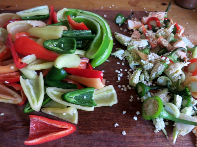 deseeding chiles
