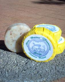 Handmade soap with Mrs Burns' Lemon Basil-infused jojoba oil (MABurgess photo)