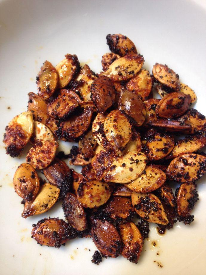 Chile-and-honey-roasted pumpkin seed snacks (MABphoto)