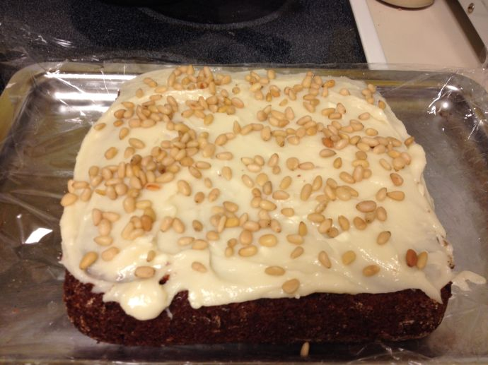 Sonoran Pumpkin Cake made with organic heirloom White Sonora Wheat and mesquite  (MABphoto)
