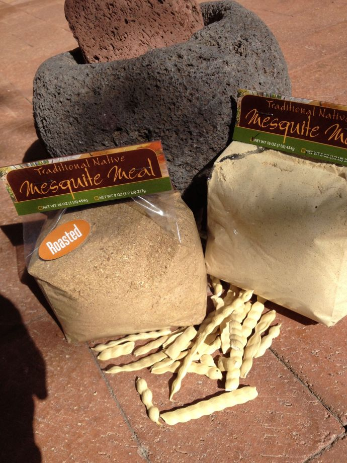 Native AZ velvet mesquite meal, roasted or natural--look for it at NSS or Flor de Mayo