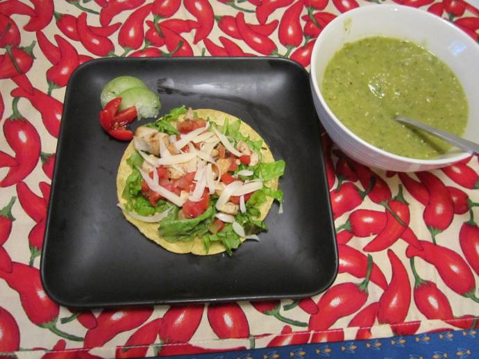 Salsa Verde is the perfect addition to a tostada.
