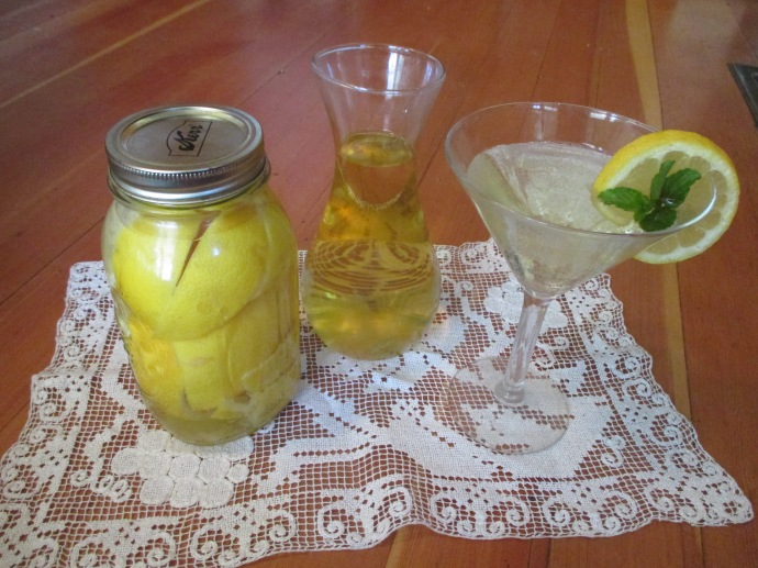 Italian limoncello is easy to make.