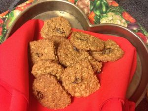 Roasted mesquite cherry oatmeal cookies