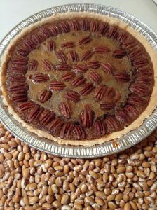 Ed's perfect pecan pie made with Zuni beans--a healthy dessert!.