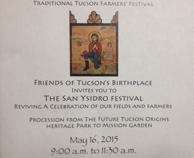 Invitation to the 2015 San Ysidro Fiesta