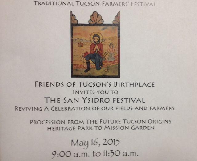 Invitation to the 2015 San Ysidro Fiesta