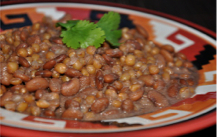Pima Posole Stew with Tepary Beans and White Sonora Wheat, served at Heard Museum