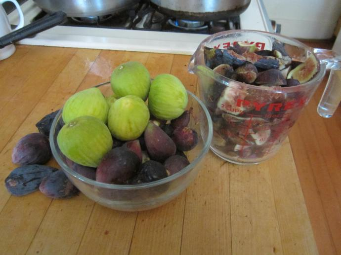 "Plump figs from Mission Garden. The green ones are called ""white"" and some people think they are sweeter."