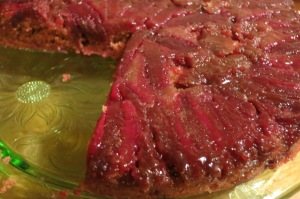 Prickly pear upside down cake