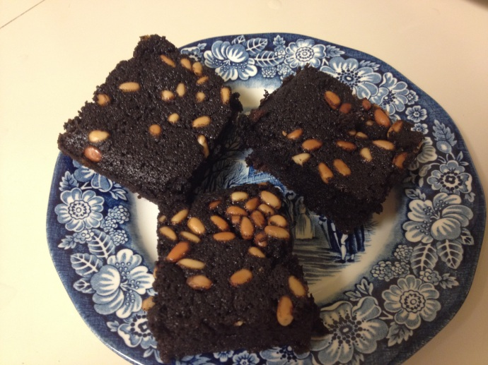 Gluten-free black tepary brownie-cockaigne for a desert dessert!