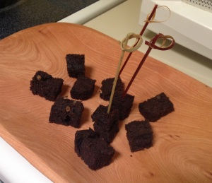 """Hot-dam"" Black Tepary Brownies ready to enjoy!"