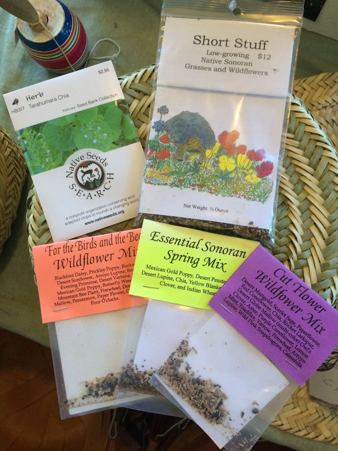 Tarahumara Chia and Desert Chia are available in seed packets and seed mixtures from NativeSeeds/SEARCH.
