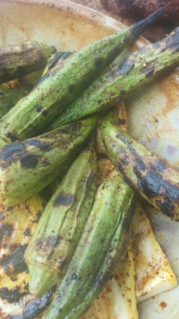 cooked okra