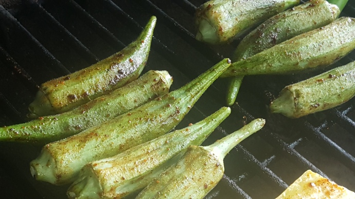 grilling okra