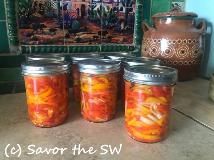 Pickled sweet peppers with onion & garlic in an anise, peppercorn, and coriander brine M King web